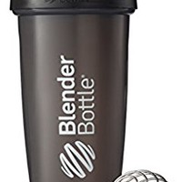 BlenderBottle Classic Loop Top Shaker Bottle, Black/Black, 28-Ounce Loop Top
