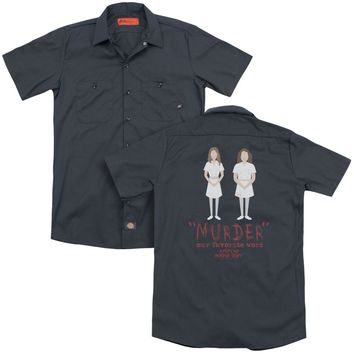 American Horror Story - Murder (Back Print) Adult Work Shirt