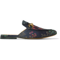 Gucci - + Disney Jacquard Backless Loafers