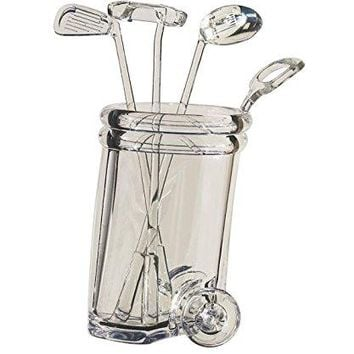Diligence4us AS-0307 Golf Ball Wine Stirrer Cart, Clear