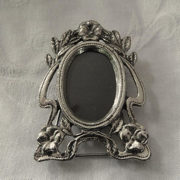 Vintage Miniature Picture Frame, Mini Photo Frame, Silver Art Nouveau Picture Frame, Vintage Vanity