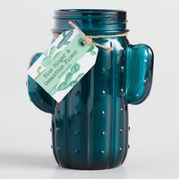 Teal Ginger Cactus Jar Candle