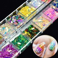 1Box Horse Eye Design Nail Sequins Glitter Marquise Mixed Decor 3d Manicure Nail Tips Sheet Decorations DIY Accessories LAMY