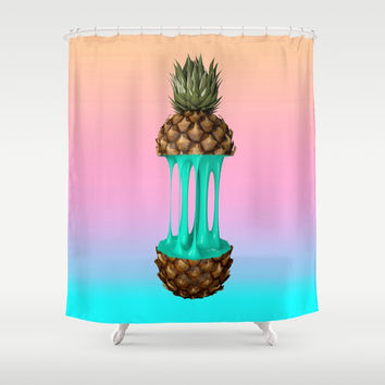 Goo Pineapple Shower Curtain by Nayers