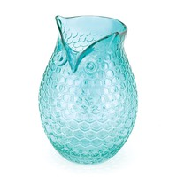 Gorgeous Aquamarine Pop Owl Vase