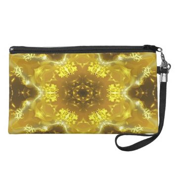 Golden Kaleidoscope Wristlet Purse