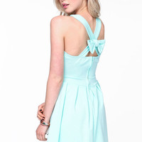 BOW CRISS CROSS SKATER DRESS