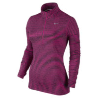Nike Element Stripe Half-Zip Women's Running Top