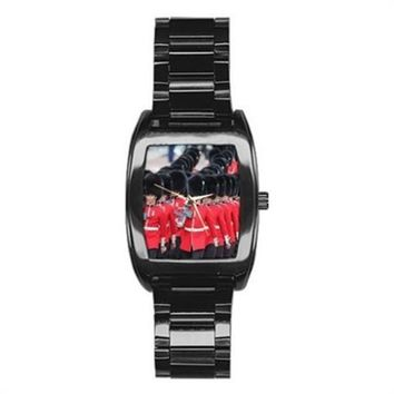 Buckingham Place Guards Trooping The Colour Black Watch Stainless Steel Barrel S