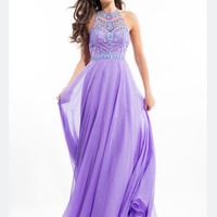 High Neck Rachel Allan Prom Dress 7239