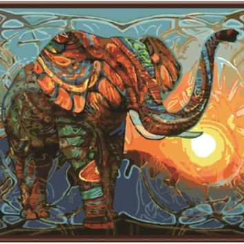 New Frameless Elephant Pictures Painting By Numbers DIY Digital Oil Painting On Canvas Home Decor Wall Art Abstract