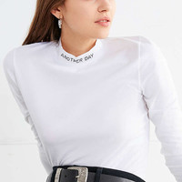Another Day Stitched Turtleneck Top | Urban Outfitters