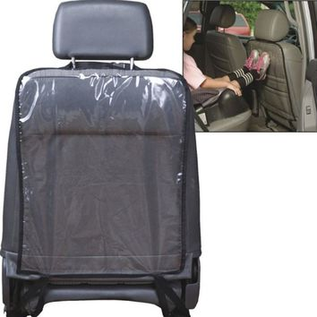 Kids Car Auto Seat Back Protector Cover For Children Kick Mat Mud Cleaner Waterproof  Baby Seatback Cover Transparent