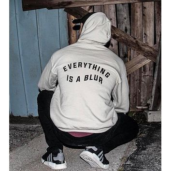 Everything is a Blur Unisex Hoodies Letter Graphic Jumpers Women/Men Spring Hipster Crewneck Outfits Tumblr Sweatshirt Tops