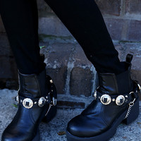 Peppermayo Leather - Bunkhouse Boot Harnesses - Black Leather