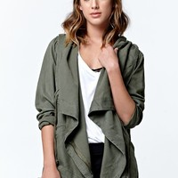LA Hearts Short Anorak Jacket - Womens Jacket - Green