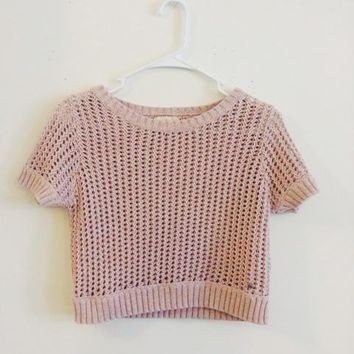 Denim & Supply Cropped Pink Sweater (Denim & Supply Ralph Lauren)
