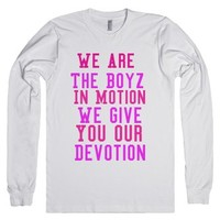 Boyz In Motion Shirt-Unisex White T-Shirt