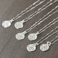 Boho wedding jewelry, compass necklaces, Handcrafted in sterling silver