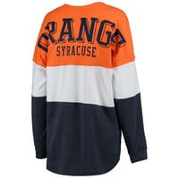 Syracuse Orange Women's Tri-Sweeper Long Sleeve T-Shirt - Orange