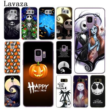 Lavaza Nightmare Before Christmas alloween Hard Phone Cover Case for Samsung Galaxy S8 Plus S9 Plus S3 S4 S5 S6 S7 Edge Cases