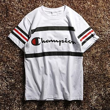 Champion Woman Men Fashion Casual Shirt Top Tee