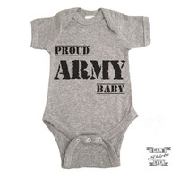 Proud Army Baby Onesuit