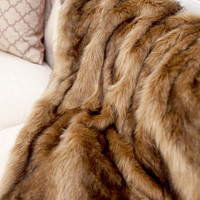 Ibex Multi faux fur fiber Throw