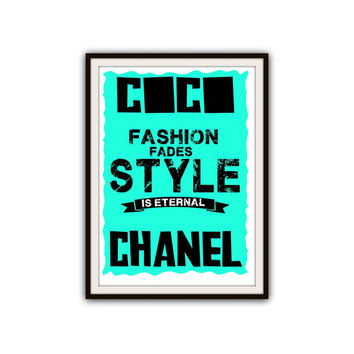 Coco Chanel Fashion Lovers Gifts Typography Poster Print