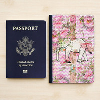 TRAVEL ACCESSORIES ELEPHANT Passport Holder Leather Passport Wallet Passport Cover Passport Case Cute Pink Flower Chevron Beautiful Floral