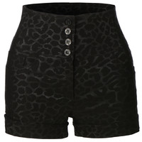 LE3NO Womens High Waisted Printed Sailor Shorts with Stretch