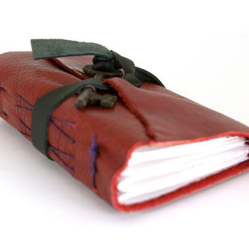 Key Leather Journal in Red (sm)