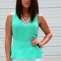 Emerald Peplum Perfection