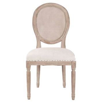 Oliver Bisque French Linen Dining Chair Stone Wash (Set of 2)