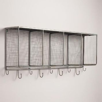 Metal and Wood Braedyn Wall Storage