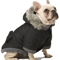 Pocket Parka Hooded Dog Coat (S-L) at barker & meowsky a paw firm since 1998 carries dog clothes, dog accessories, dog carriers, dog collars, dog toys, dog beds and dog treats
