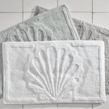 Shell Sculpted Bath Rug