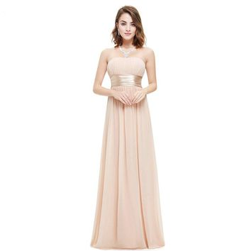 Strapless Ruched Bust Black Chiffon New Arrival Evening Dress