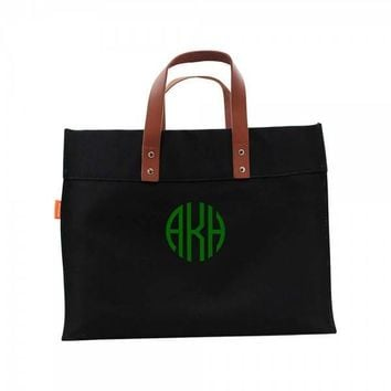 Canvas Beach Bag   Monogrammed Large Utility Tote   Beach Bag   Personalized Beach Tote   Embroidered Beach Bag   Pool Bag   Overnight Bag