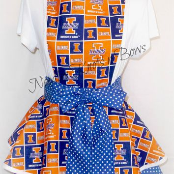 University of Illinois Womens Apron, Aprons, College Football, Womens Aprons