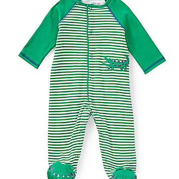 Little Me Newborn-9 Months Alligator Footed Coverall - Green/Multi