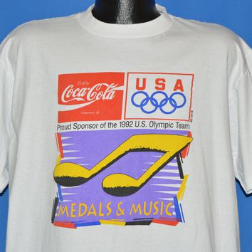 90s USA Olympic Games Medals & Music 1992 t-shirt Extra Large