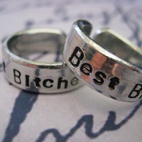 Best Bitches, Set of 2, Best Friend, Best friend jewelry,BFF, BFF Rings, Besties Jewelry, Friendship rings, Gifts for best friends, Bestie