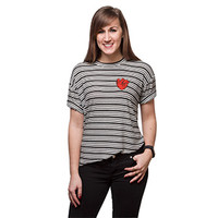 Anatomical Heart Oversized Ladies' Top