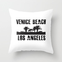 Venice Beach Los Angeles Black & White Throw Pillow or Cover California Cottage Decor