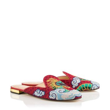 Dragon Mules in Multicolour - Flats | Charlotte Olympia
