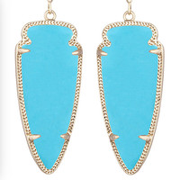 Kendra Scott Skylar In Gold Turquoise