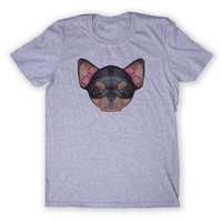 Girly Sassy Chihuahua Dog Face Tee Cute Puppy Animal Lover Graphic T-shirt