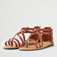 AEO Asymmetrical Thong Sandal, Tan