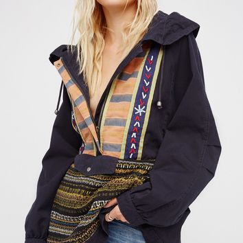 Free People Embroidered Pullover